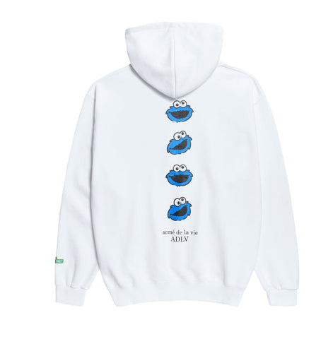 アクメドラビ(acme' de la vie) [SESAME STREET X acme' de la vie] BLUE COOKIE MONSTER HOODIE