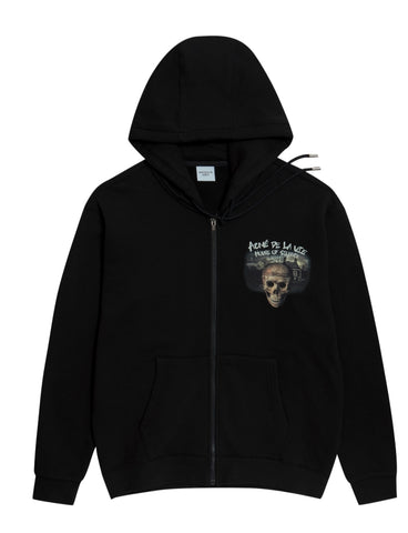 アクメドラビ(acme' de la vie) ADLV HOUSE OF SILENCE HOODIE ZIP-UP BLACK