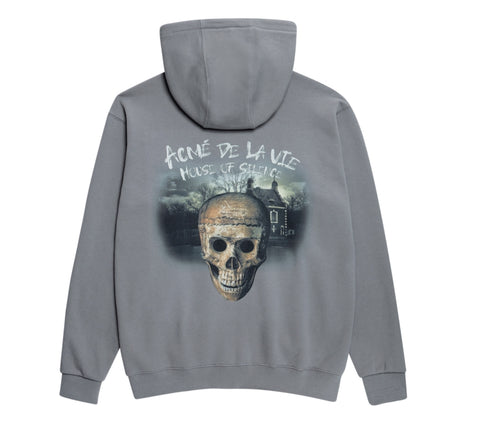 アクメドラビ(acme' de la vie) ADLV HOUSE OF SILENCE HOODIE ZIP-UP GREY