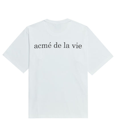 アクメドラビ(acme' de la vie) ADLV BABY FACE SHORT SLEEVE T-SHIRT PAINT WHITE