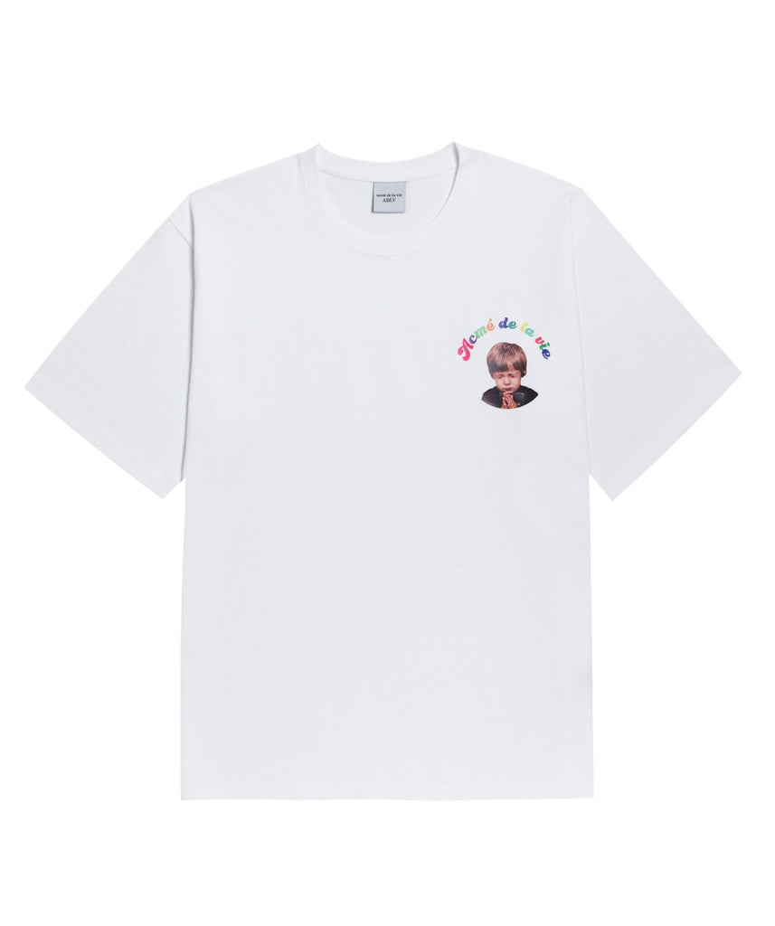 アクメドラビ(acme' de la vie) ADLV BABY FACE SHORT SLEEVE WHITE MINI PRAYER