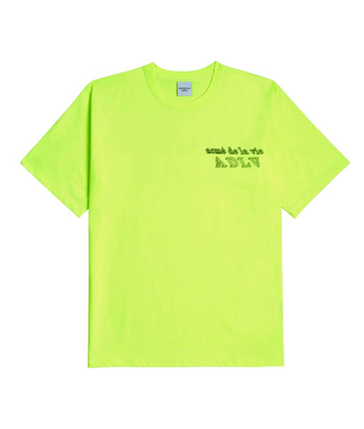 アクメドラビ(acme' de la vie) ADLV 3D SHORT SLEEVE T-SHIRT NEON YELLOW