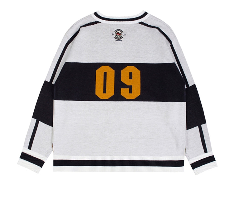 ロマンティッククラウン(ROMANTIC CROWN) SCOREBOARD KNIT_WHITE