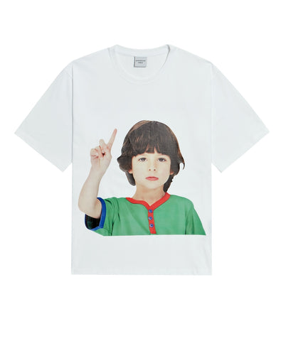 アクメドラビ(acme' de la vie) ADLV BABY FACE SHORT SLEEVE T-SHIRT WHITE ONE MORE
