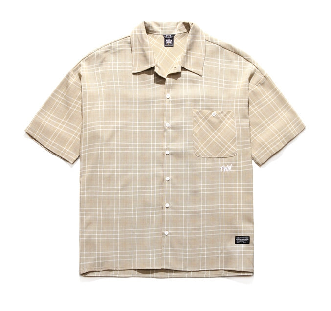 ティーダヴリューエヌ(TWN) MINIMAL CHECK SHORT SLEEVE SHIRT YMLS3115