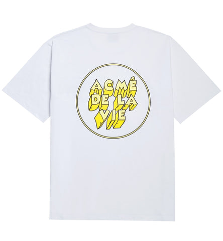 アクメドラビ(acme' de la vie) ADLV ICE LOGO SHORT SLEEVE T-SHIRT YELLOW