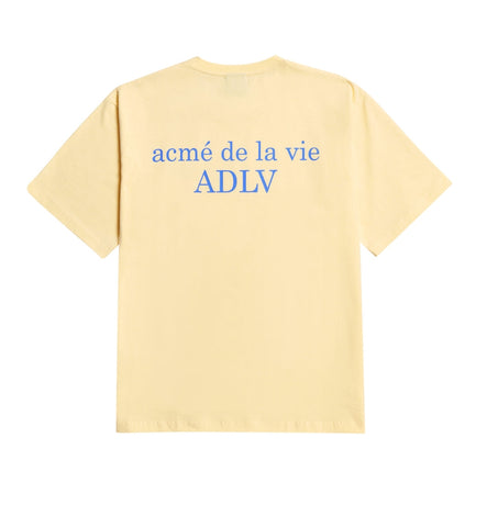 アクメドラビ(acme' de la vie) ADLV BASIC SHORT SLEEVE 2 LIGHT YELLOW