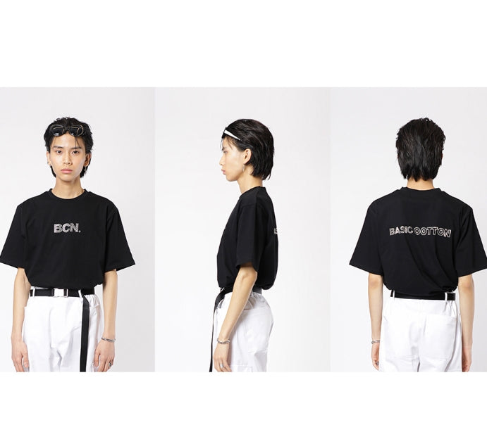 ベーシックコットン(BASIC COTTON) BCN BEAS HALF TOP - BLACK