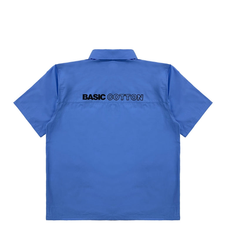 ベーシックコットン(BASIC COTTON) BCN HALF SHIRT - BLUE