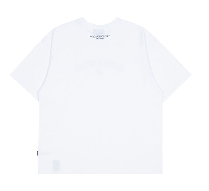 ロマンティッククラウン(ROMANTIC CROWN) ROMANTIC ARCH LOGO TEE_WHITE