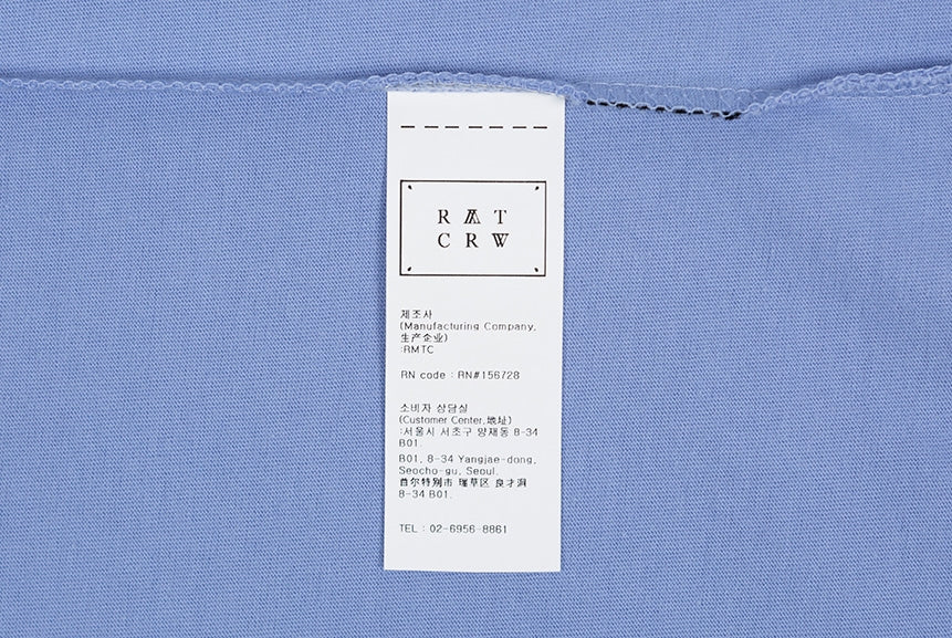 ロマンティッククラウン(ROMANTIC CROWN) RMTCRW SLOGAN LOGO TEE_FLOWER BLUE