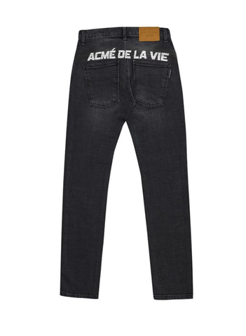 アクメドラビ(acme' de la vie) BACK LOGO DENIM FOR MEN JEANS BLACK