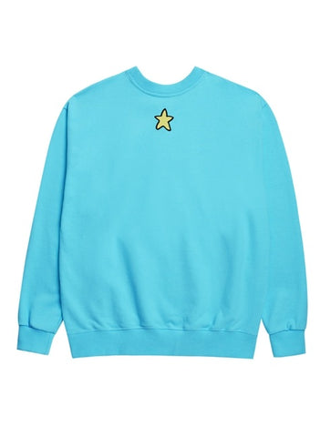 アクメドラビ(acme' de la vie) EMBOSSING STAR SWEATSHIRT SKY BLUE