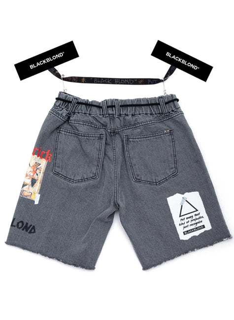 ブラックブロンド(BLACKBLOND) BBD Maverick Denim Shorts (Dark Gray)