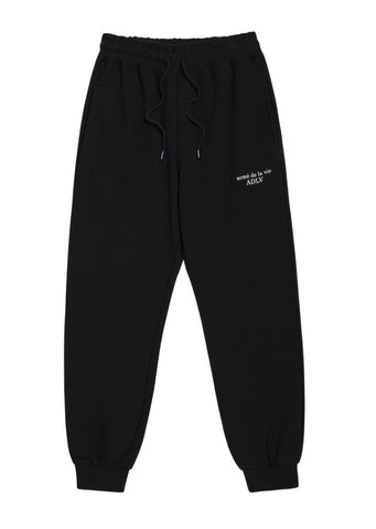 アクメドラビ(acme' de la vie) BASIC LOGO PANTS FOR MEN BLACK