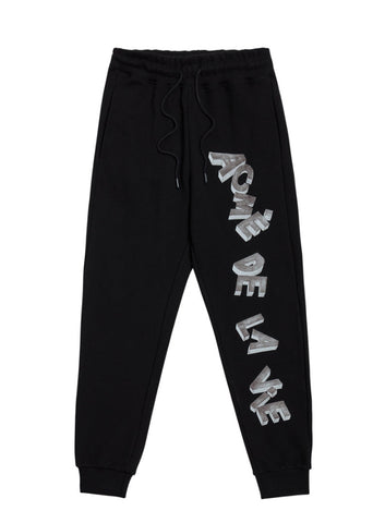 アクメドラビ(acme' de la vie)  SKETCH LOGO PANTS FOR WOMEN BLACK