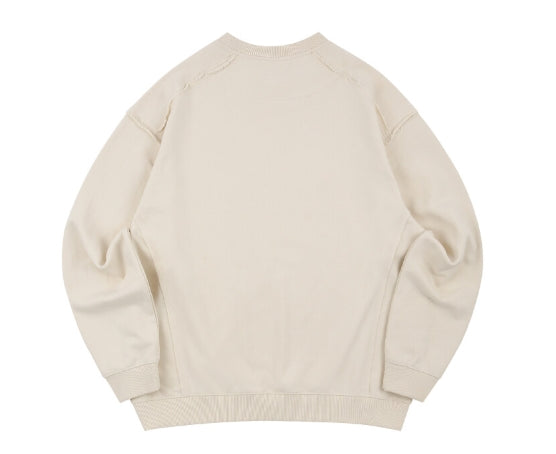 ORDINARY PEOPLE(オーディナリーピープル) DESTROYED SEAM-LINE CREAM SWEATSHIRTS
