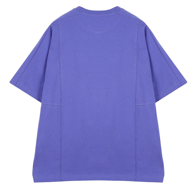 ORDINARY PEOPLE(オーディナリーピープル)   ORDINARY CUTTING DETAIL PURPLE T SHIRT