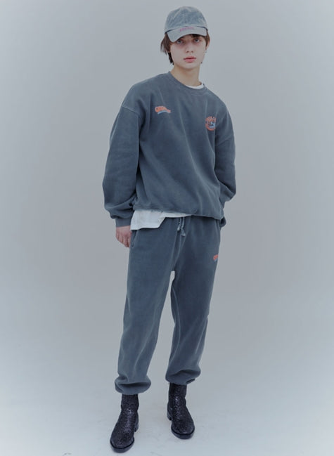 ORDINARY PEOPLE(オーディナリーピープル)   VINTAGE LOGO CHARCOAL PIGMENT SWEATPANTS