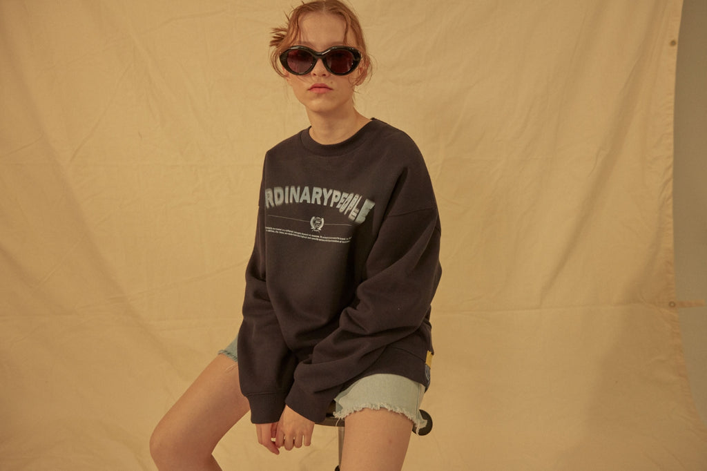 ORDINARY PEOPLE(オーディナリーピープル) COLOR POINT SHIRTS LAYERED NAVY SWEATSHIRTS