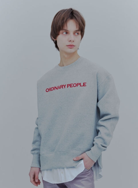 ORDINARY PEOPLE(オーディナリーピープル) ORDINARY LAYERED MTM GREY SHIRT