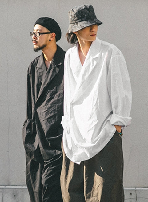 ANGLAN(アングラン) Double Collar Shirts - 2color