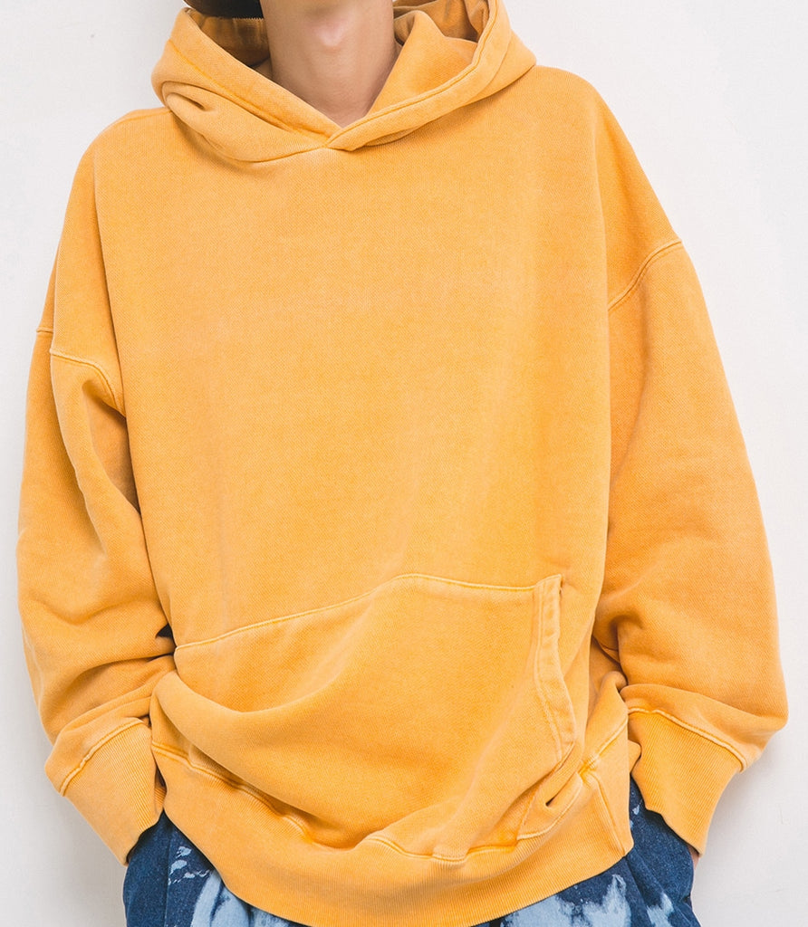 ANGLAN(アングラン)Dyeing Washing Over Hoodie - Yellow