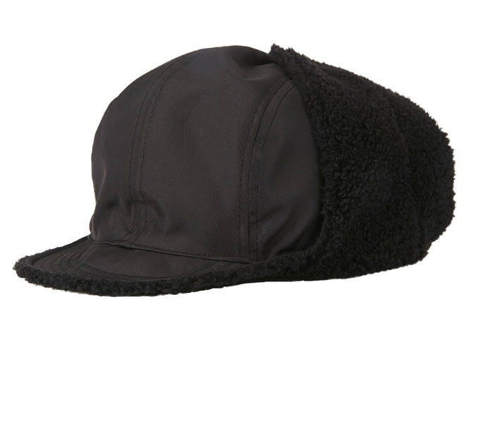 VARZAR(バザール) Reversible metal tip overfit trooper hat black