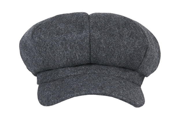VARZAR(バザール) Wool newsboy cap grey