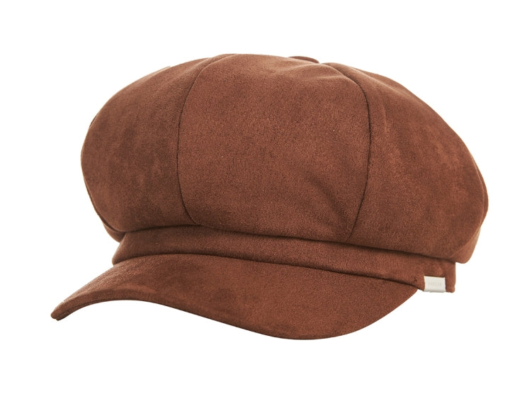 VARZAR(バザール) Bold Metal Tip Suede Newsboy Cap brown