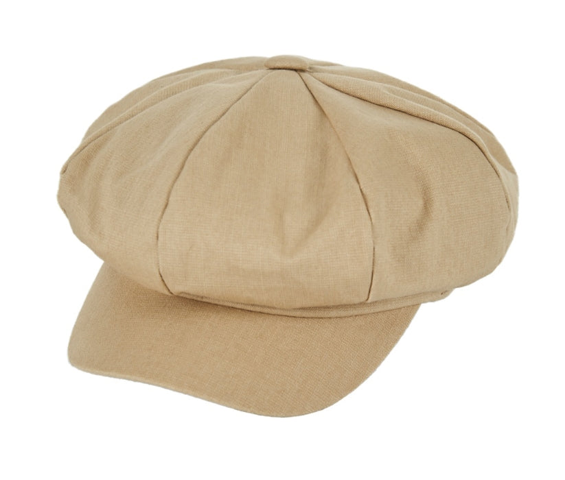 VARZAR(バザール) Herringbone label newsboy cap beige