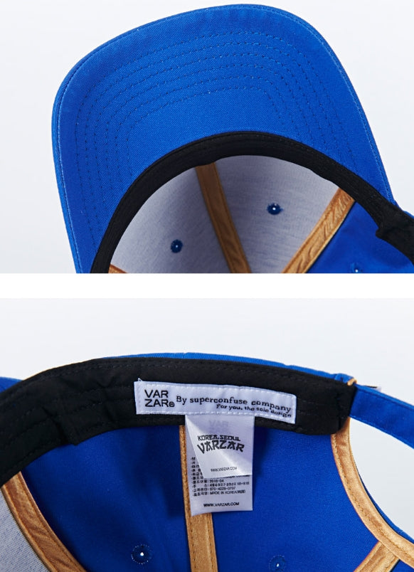 VARZAR(バザール) VARZAR embroidery ball cap blue
