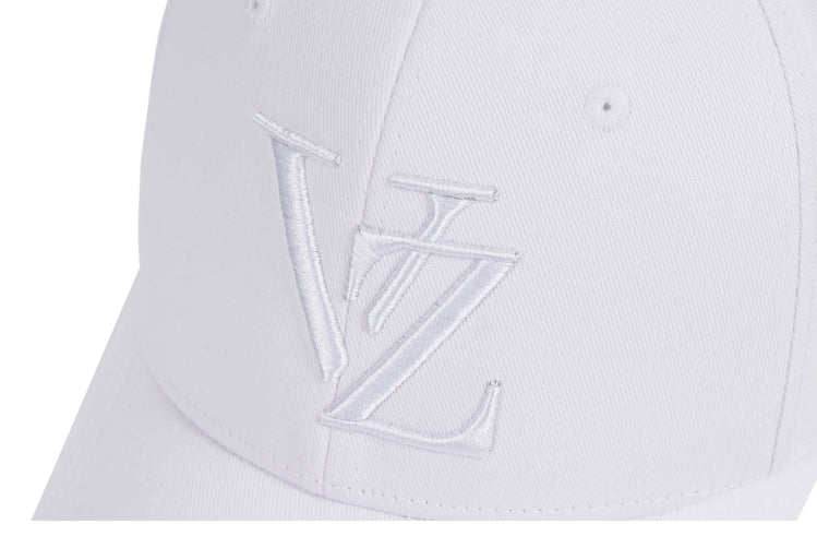 VARZAR(バザール) Special Monogram Big Logo Overfit Buckle Cap All white