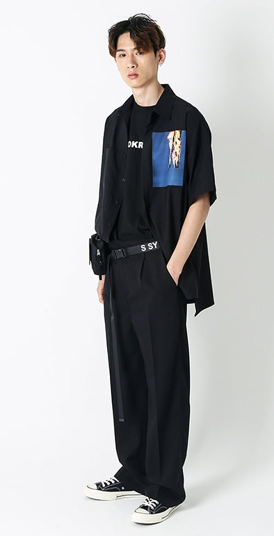 SSY(エスエスワイ)  essential over wide pants black