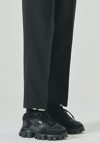 SSY(エスエスワイ)  half banding tip crop slacks black