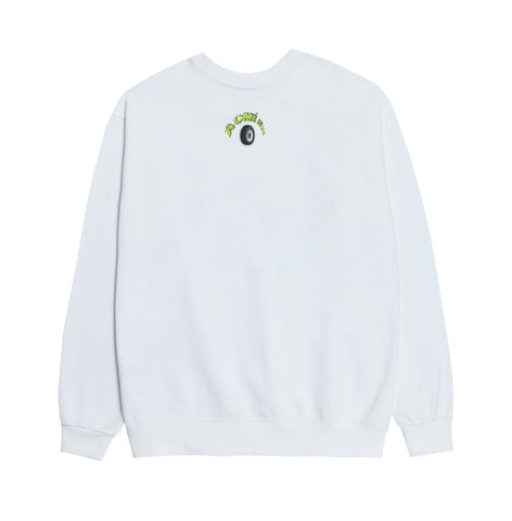 アクメドラビ(acme' de la vie) BLUE RACING CAR SWEATSHIRT WHITE