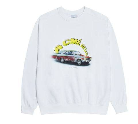 アクメドラビ(acme' de la vie) RED RACING CAR SWEATSHIRT WHITE
