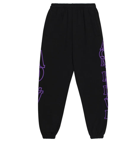 アクメドラビ(acme' de la vie)  SIDE BIG LOGO PANTS FOR MEN PURPLE