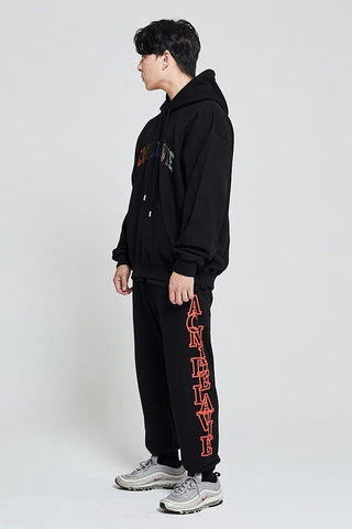アクメドラビ(acme' de la vie)  SIDE BIG LOGO PANTS FOR MEN ORANGE