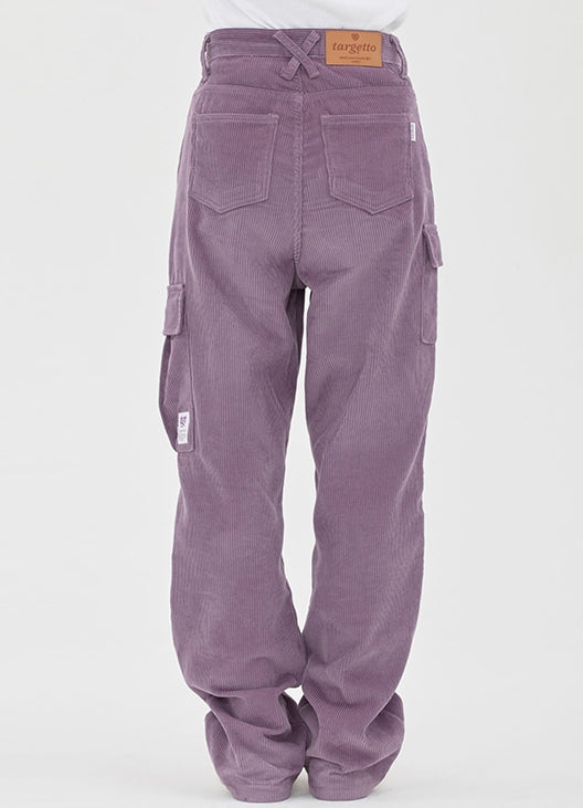 TARGETTO(ターゲット)  CORDUROY WIDE CARGO PANTS_LIGHT PURPLE