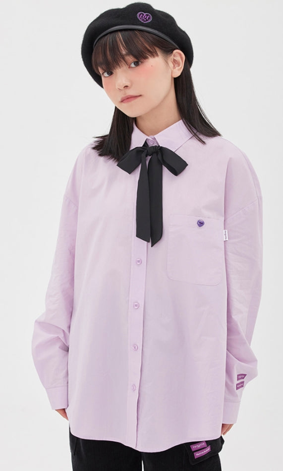 TARGETTO(ターゲット)  RIBBON TIE SHIRT_LIGHT PURPLE