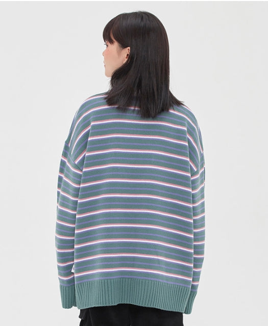TARGETTO(ターゲット) KEY RING STRIPE KNIT_BLUE GREEN