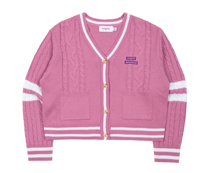 TARGETTO(ターゲット) COMBI CABLE CARDIGAN_DARK PINK