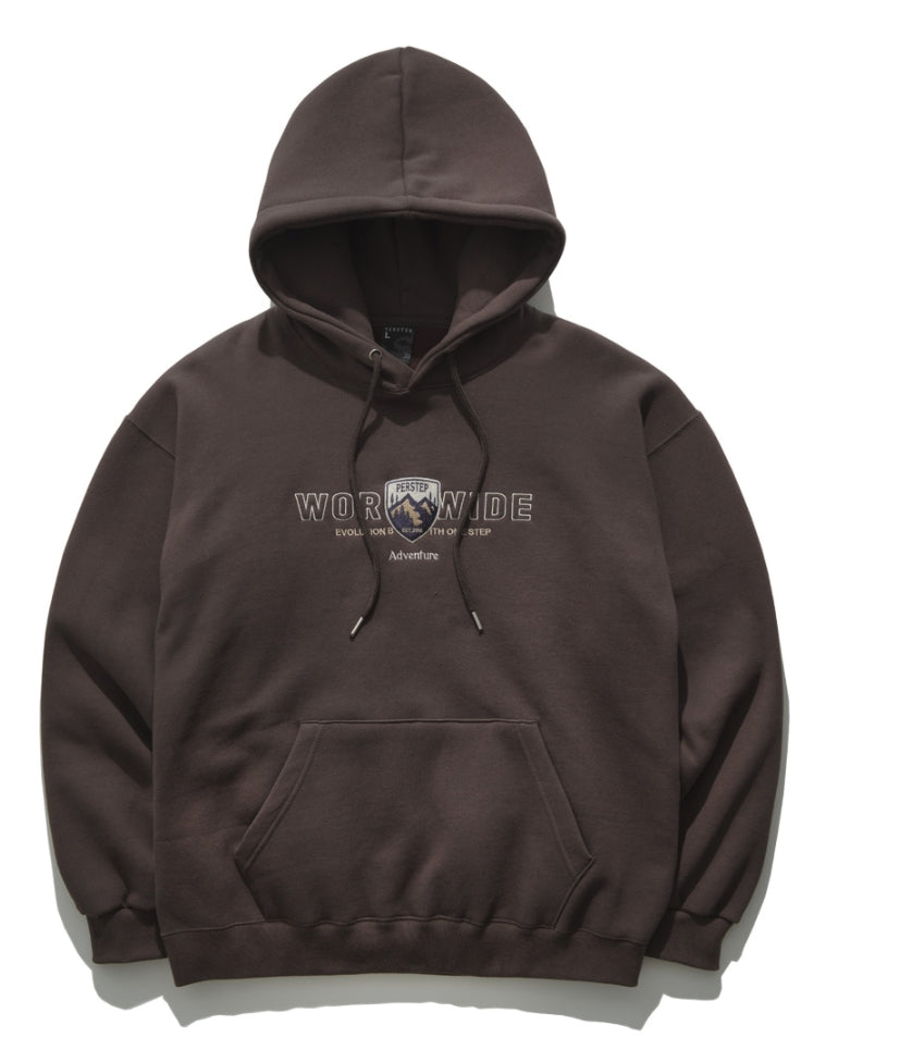 パーステップ(PERSTEP) WORLDWIDE HOODIE BROWN JUHD4371