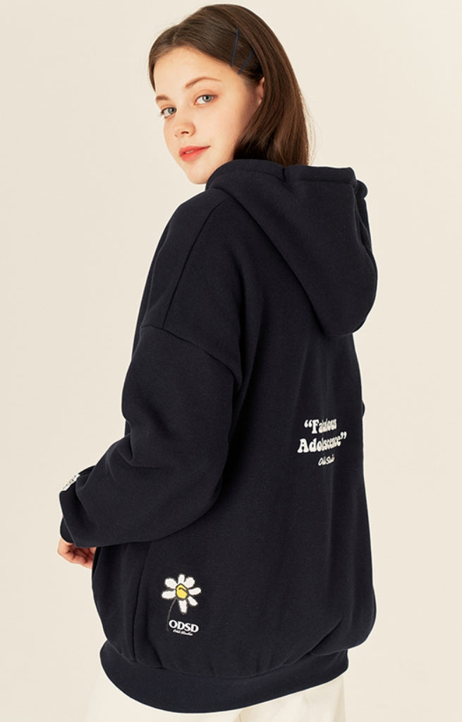Odd Studio (オッドスタジオ) PIXEL DAISY LOOSE-FIT HOOD ZIP-UP - NALVY