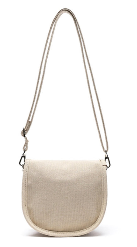 Odd Studio (オッドスタジオ) MINI ROUND CROSS BAG - BEIGE