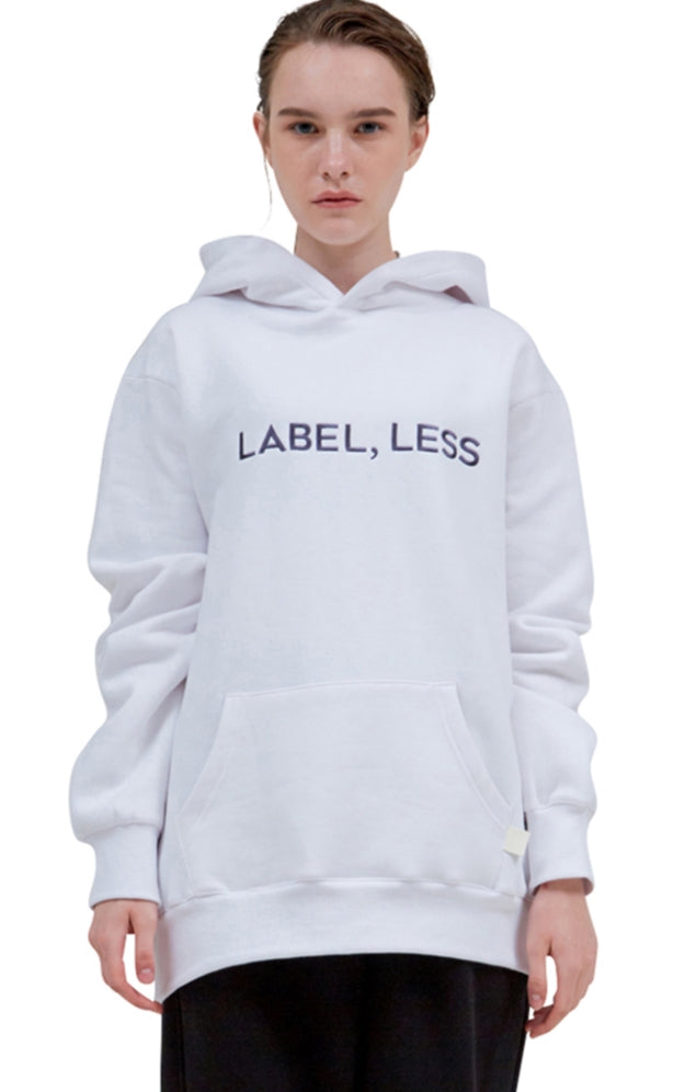 レイブレス(LABELESS)  WHITE LABEL,LESS HOODIE (DARK GREY)