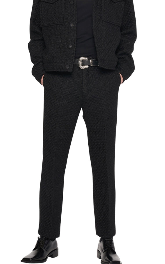 レイブレス(LABELESS)  Black tweed pants