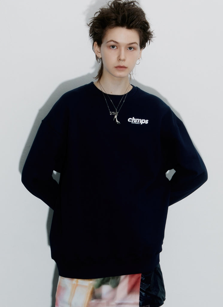 ボーンチャンプス(BORN CHAMPS) CHMPS ONE CREWNECK CETDMMT03BK