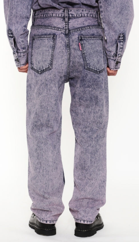 アジョバイアジョ(AJOBYAJO) Snow Washed Jeans [Pink]